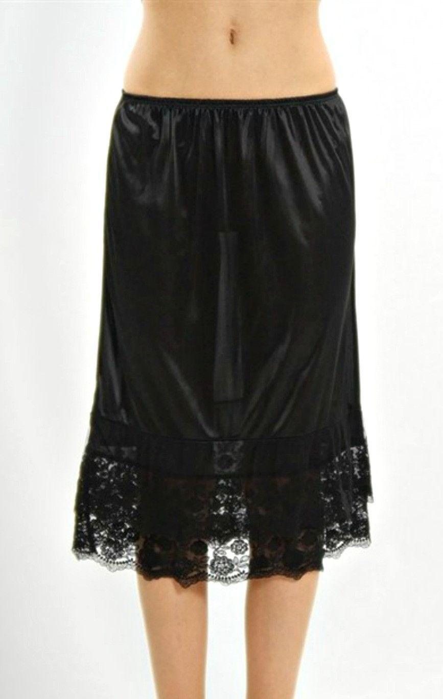993c8df2a7e0 Extra Long Skirt Extender Slip - Black | Wardrobe Style Guide | Slip ...