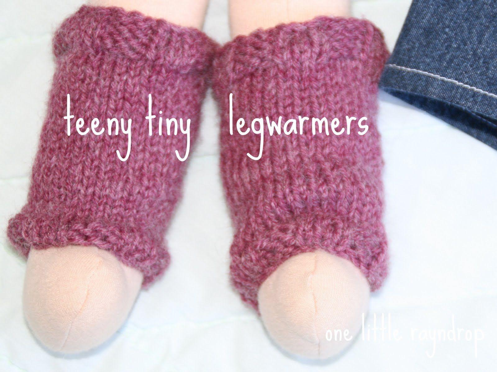 one little rayndrop: Teeny Tiny Legwarmers