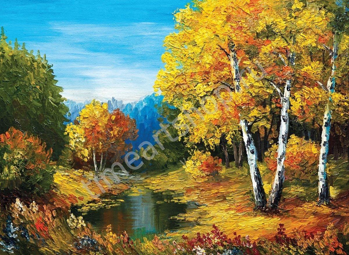 Красота осени, картина раскраска по номерам, размер 40 ...