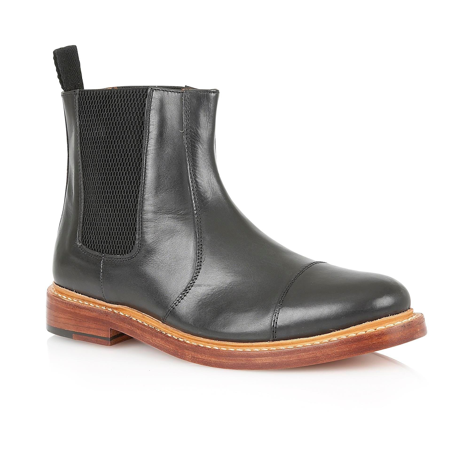 Lotus Lexton Slip On Casual Chelsea Boots, Black