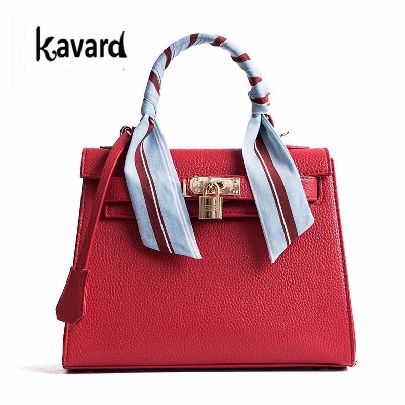 Lock Ribbons Bag Leather Luxury Handbag Crossbody Bags