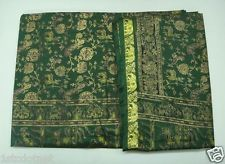 Many Peacock Elephant Deer Design Print Vintage Art Silk Women Sari Saree