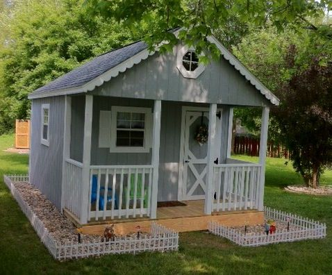 Featuring MiraTEC Trim, This Shed Was Turned Into A Fun Playhouse For The  Kids.