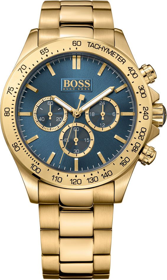 dfbca29b0 Men's Hugo Boss Ikon Gold Tone Chronograph Watch 1513340 | Menswear ...