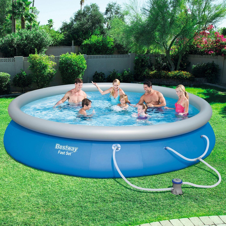 Bestway Fast Set 15 Ft X 33 Pool Set Swimming Pools Bestway Swimming Pool House