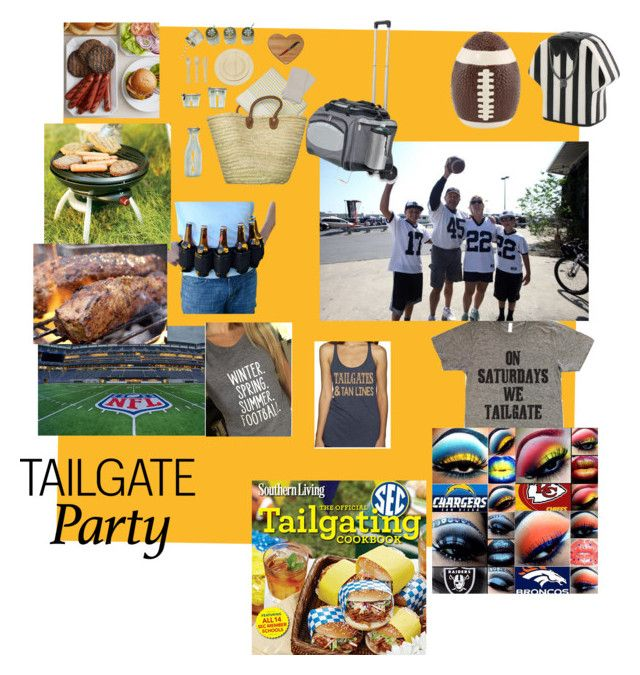 """""""Tailgate party"""" by suzinjersey ❤ liked on Polyvore featuring ACME Party Box Company, Picnic Time and Coleman"""