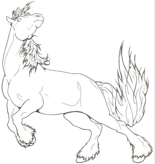 Spirited Draft Horse By Requay On Deviantart Horse Coloring Pages Horse Coloring Animal Coloring Pages