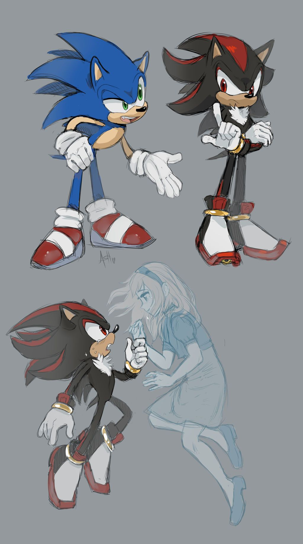 Art By Skeleion Deviantart Sonic Fan Characters Sonic And Shadow Hedgehog Art