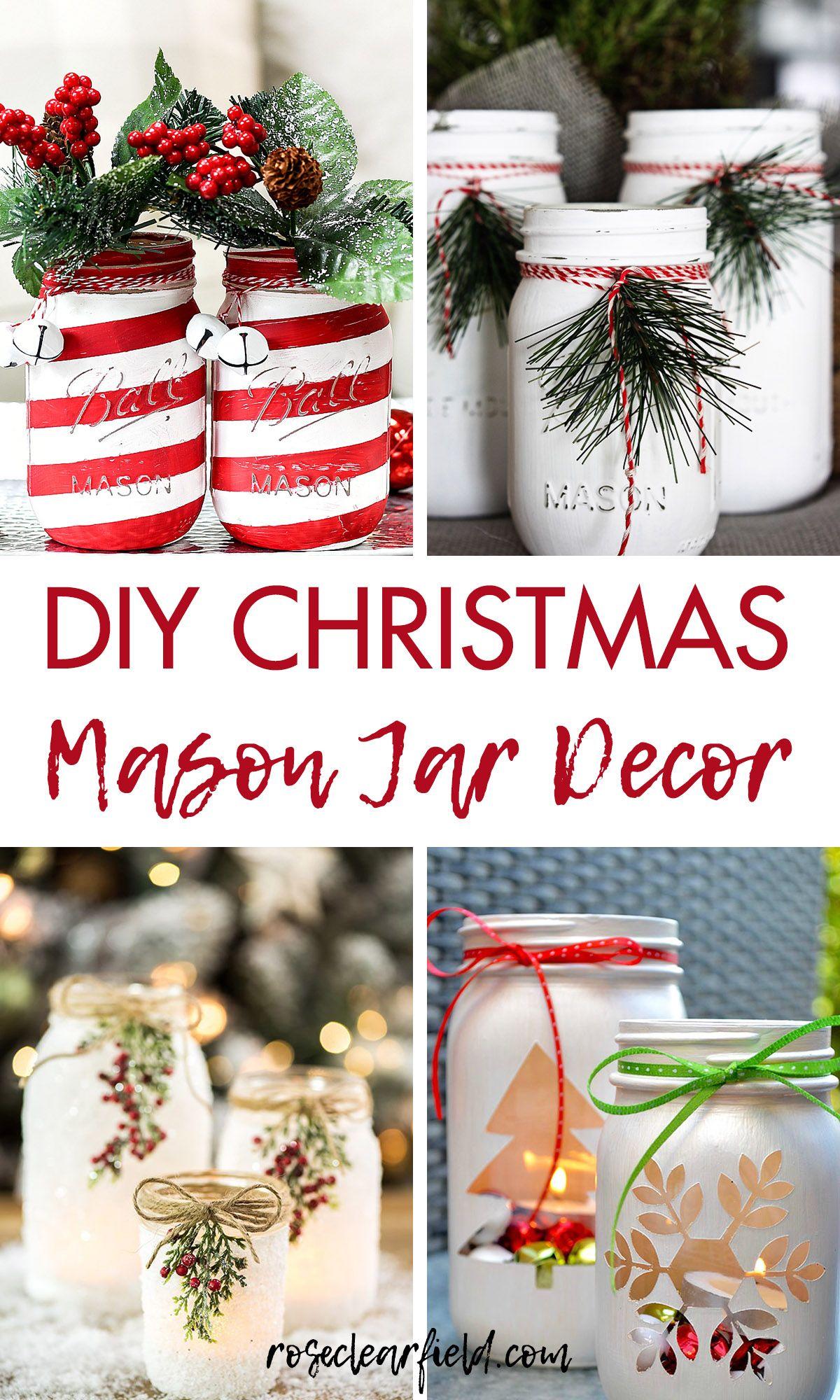 DIY Christmas Mason Jar Decor