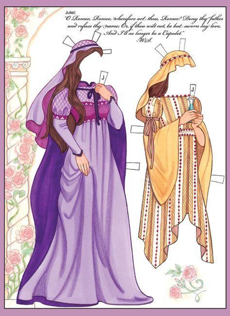 Romeo  Juliet Paper Dolls By Eileen Rudisill Miller Dover