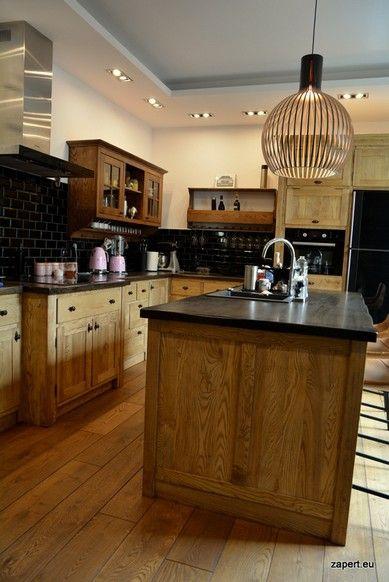 Rustykalna Kuchnia Jesionowa Z Wyspa Rustykalne Kuchnie I Stylowe Meble Drewniane Zapert Eu Home Kitchen Home Decor