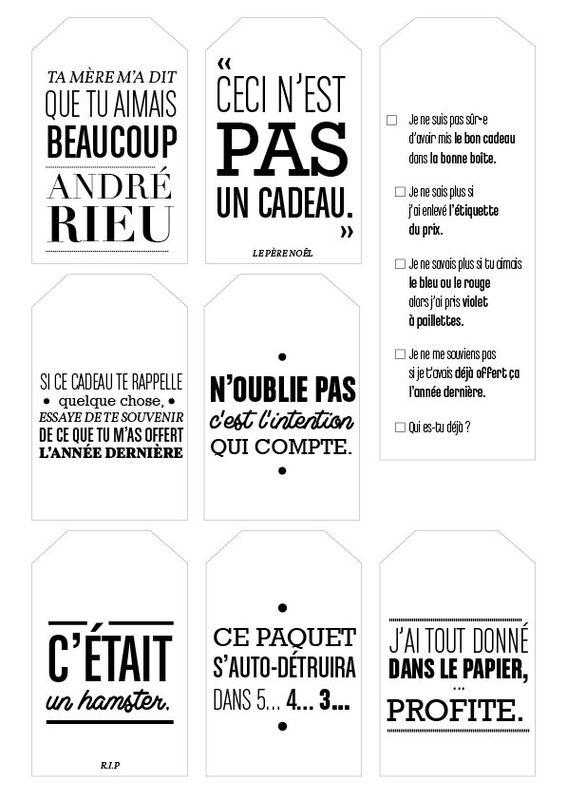 etiquettes_noel_humour | Etiquettes noel, Etiquette cadeau