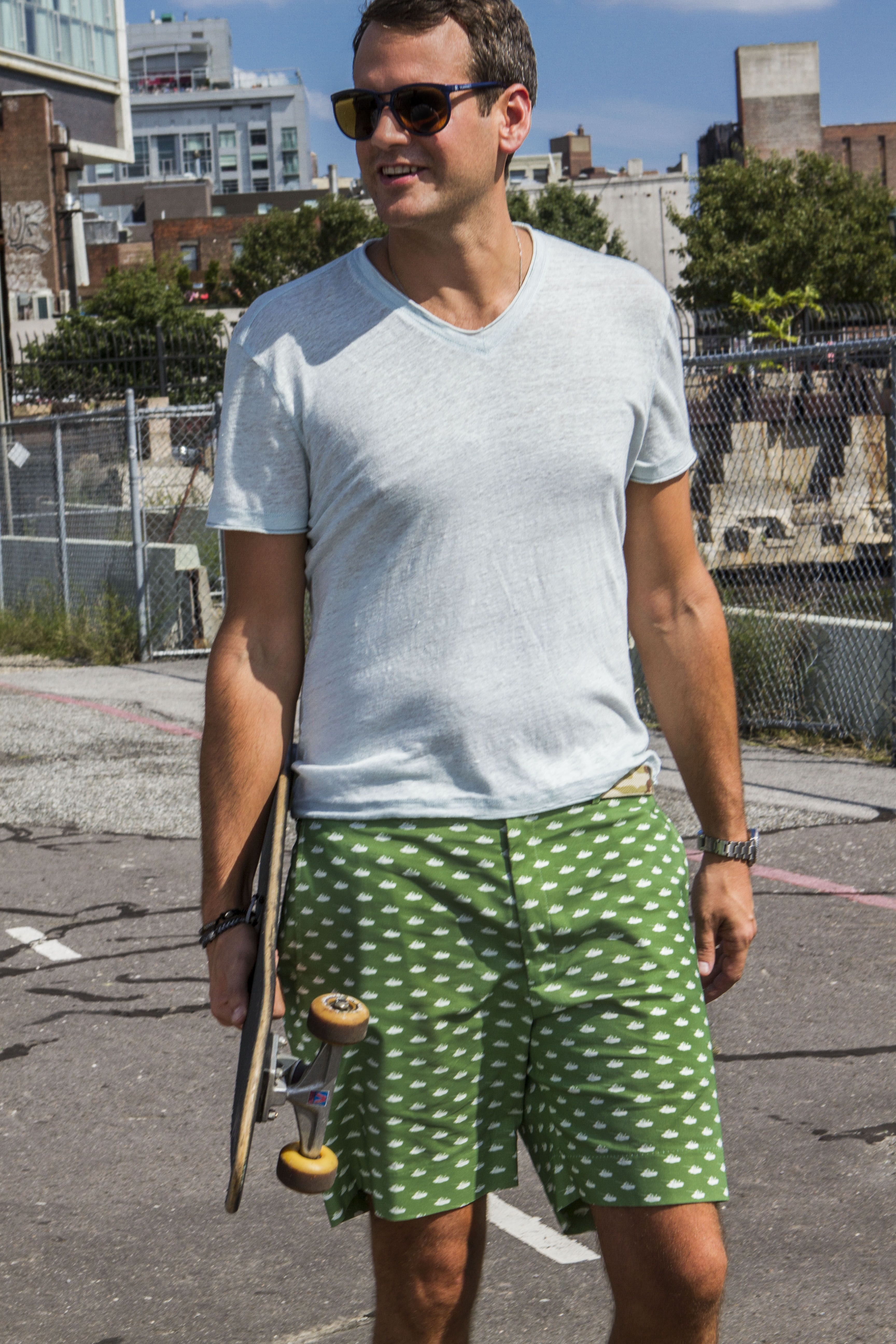 Very cool men's shorts - prints all over - Tanks - Breese Menswear  http://www.breesestyle.com
