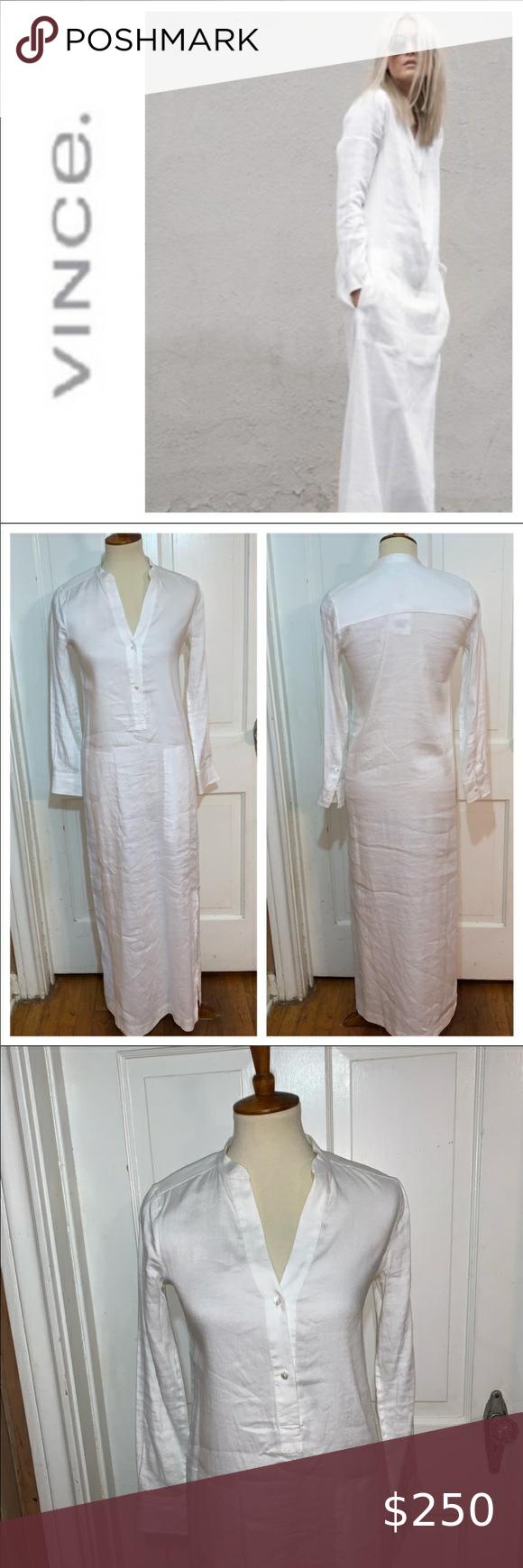 Nwt Vince White Linen Maxi Dress Caftan Size 00 Linen Maxi Dress White Linen Maxi Dress Caftan Dress [ 1740 x 580 Pixel ]