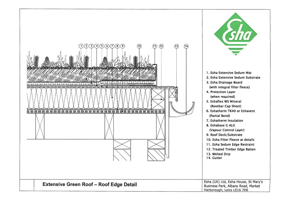 Image Result For Timber Frame Flat Roof Green Detail Roof Edge Roof Green Roof