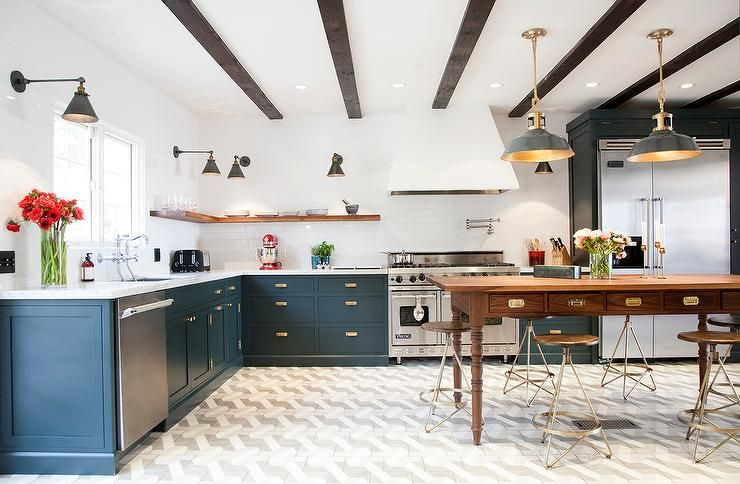 Dark Blue Kitchen Cabinets Wonderful Inspiration 18 Navy With ...