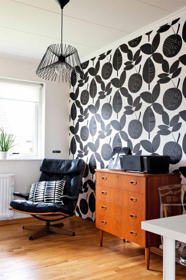 schwarze tapeten wandgestaltung tapeten schwarz weiß Wandfarben - wandgestaltung mit tapeten