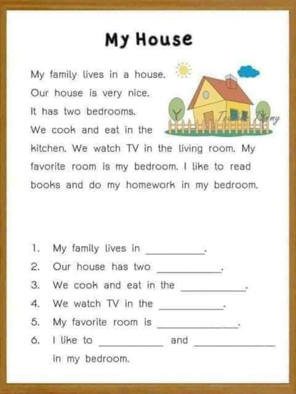 small resolution of Reading comprehension for kids - Interactive worksheet   Reading  comprehension for kids