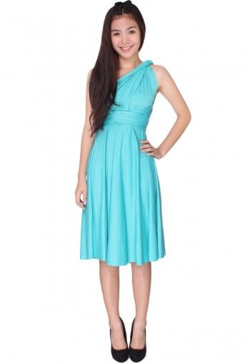 f24e639b52e Kaelyn Convertible Dress - Tiffany Blue - RM69