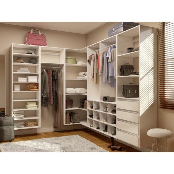 Guarda roupa de canto em l estilo closet getama m veis - Organizacion armarios ...