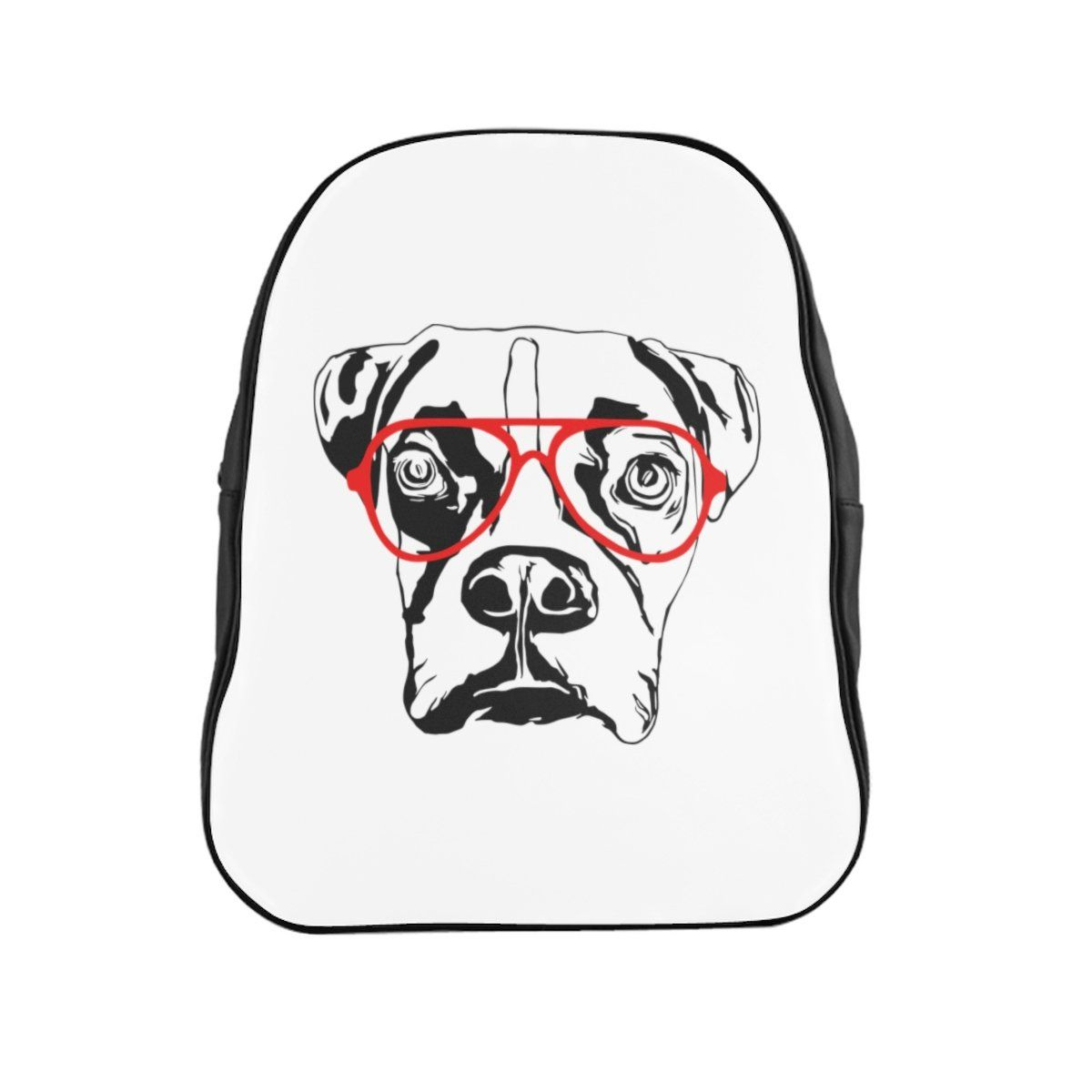 Boxer Dog In Red Glasses Backpack