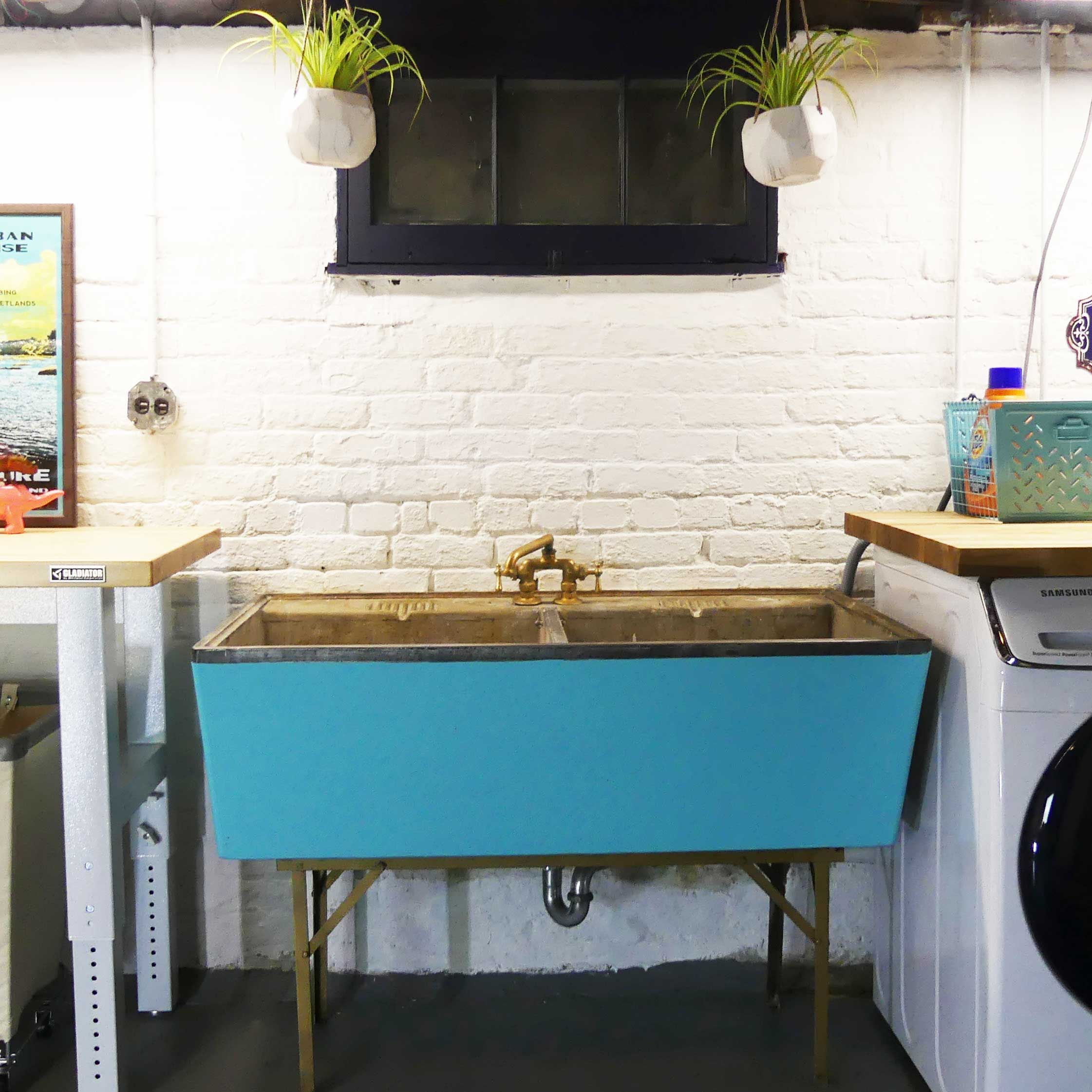how to restore a vintage concrete laundry sink   modern