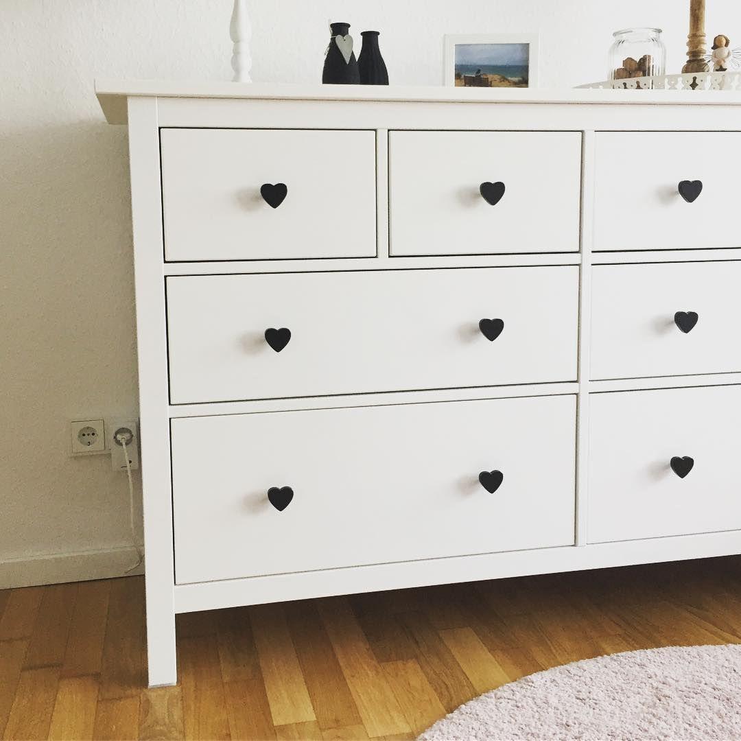Ikea Hemnes Kommode Mit Schwarzen Herz Mobelknopfen Mit