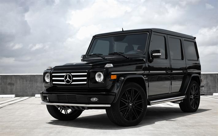 Download Imagens A Mercedes Benz G55, AMG, SUV Preto, Ajuste G55,