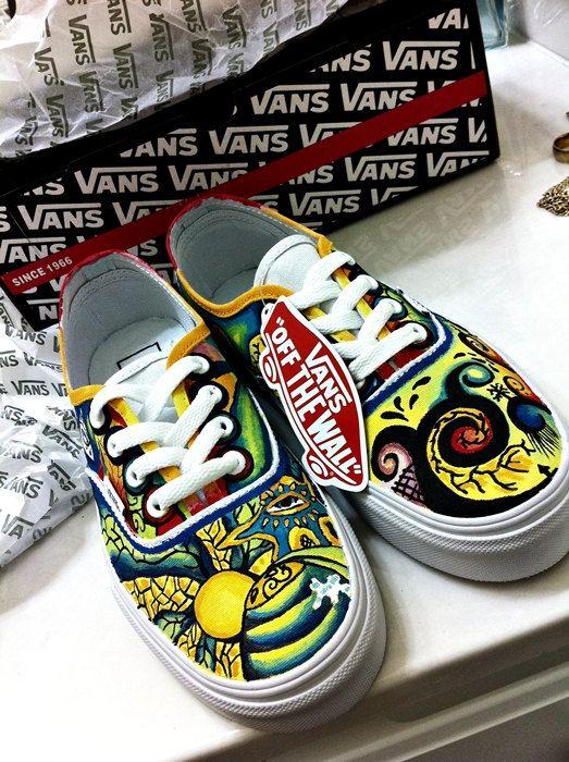 Trippy Shoe Custom Vans On Etsy 80 00 Custom Vans Vans