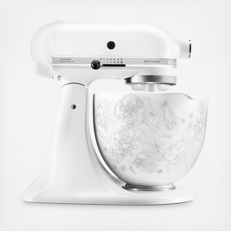Kitchenaid 5 Qt Patterned Titanium Reinforced Ceramic Bowl Stand Mixer Attachment Zola Kitchen Aid Kitchenaid Mixer Colors Kitchenware Design
