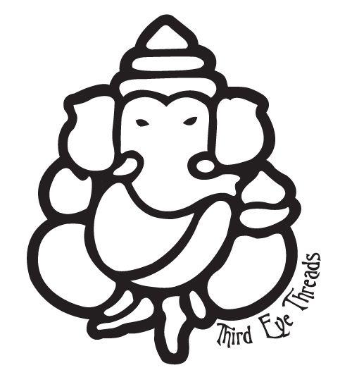 Lord Ganesh outline | proyecto | Ganesh, Black, white ...