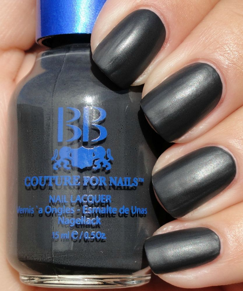 Best Soft Black, Charcoal, Matte, Satin Nail Polish Color For Women ...