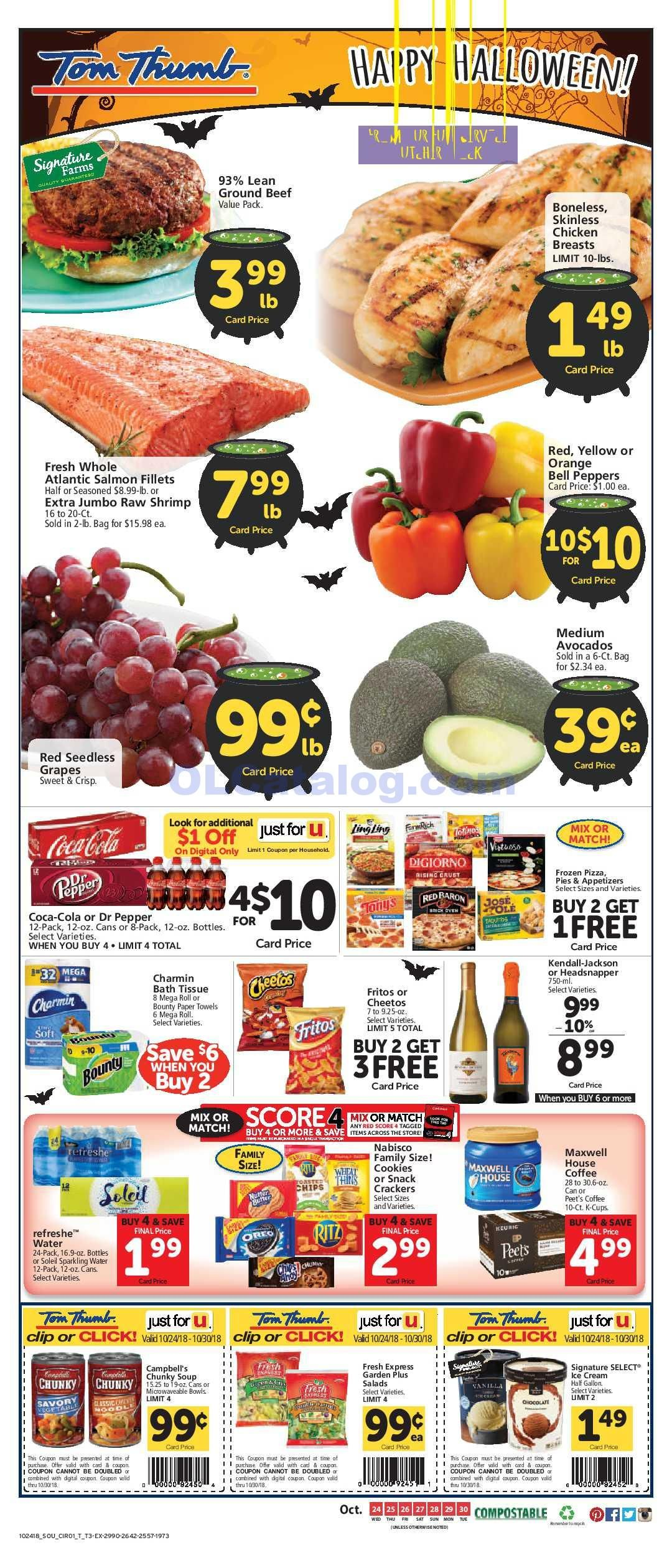 Tom Thumb Weekly Ad October 24 30 2018 View The Latest Flyer And Weekly Circular Ad For Tom Thumb Here Likewise You Can Find The Digital Coupons Grocery S