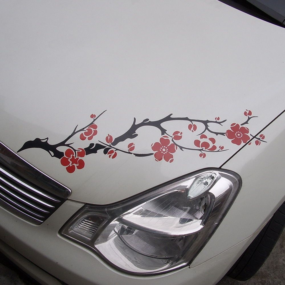 Car Decal Vinyl Graphics Sticker Hood Headlight Decal Flower Ume Blossoms Cg232 In Stickers From Automobiles Car Decals Vinyl Car Accessories Vinyl Graphics [ 1000 x 1000 Pixel ]