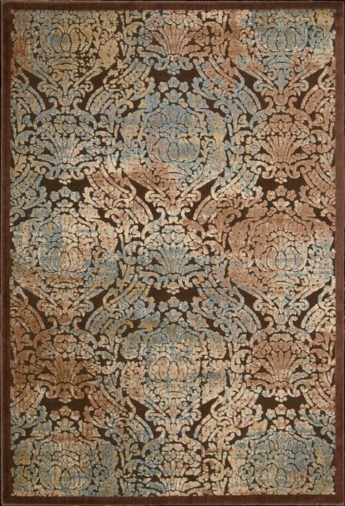Gil09 Chocolate 30 Polypropylene 70 Acrylic Powerloomed And Hand Carved In China Geometric Area Rug Area Rugs Nourison