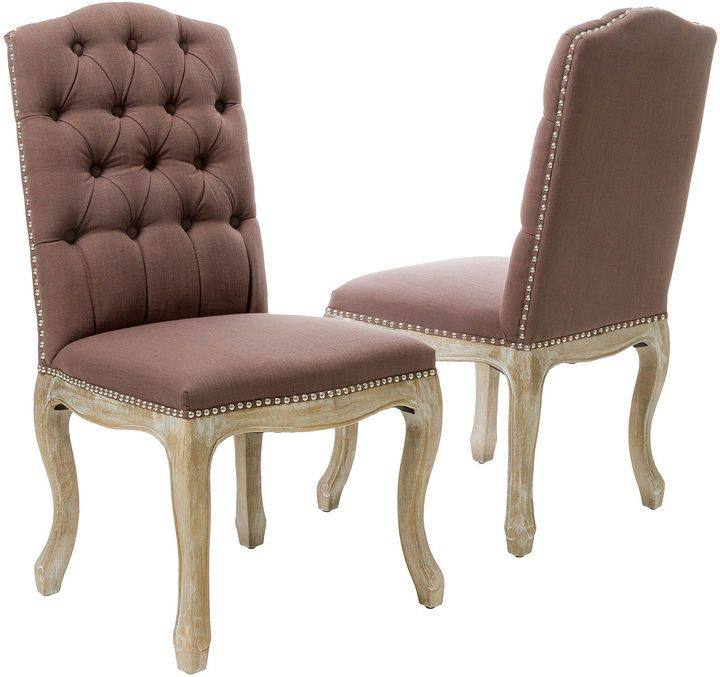 JCPenney Wester Set of 2 Tufted Upholstered Dining Chairs w