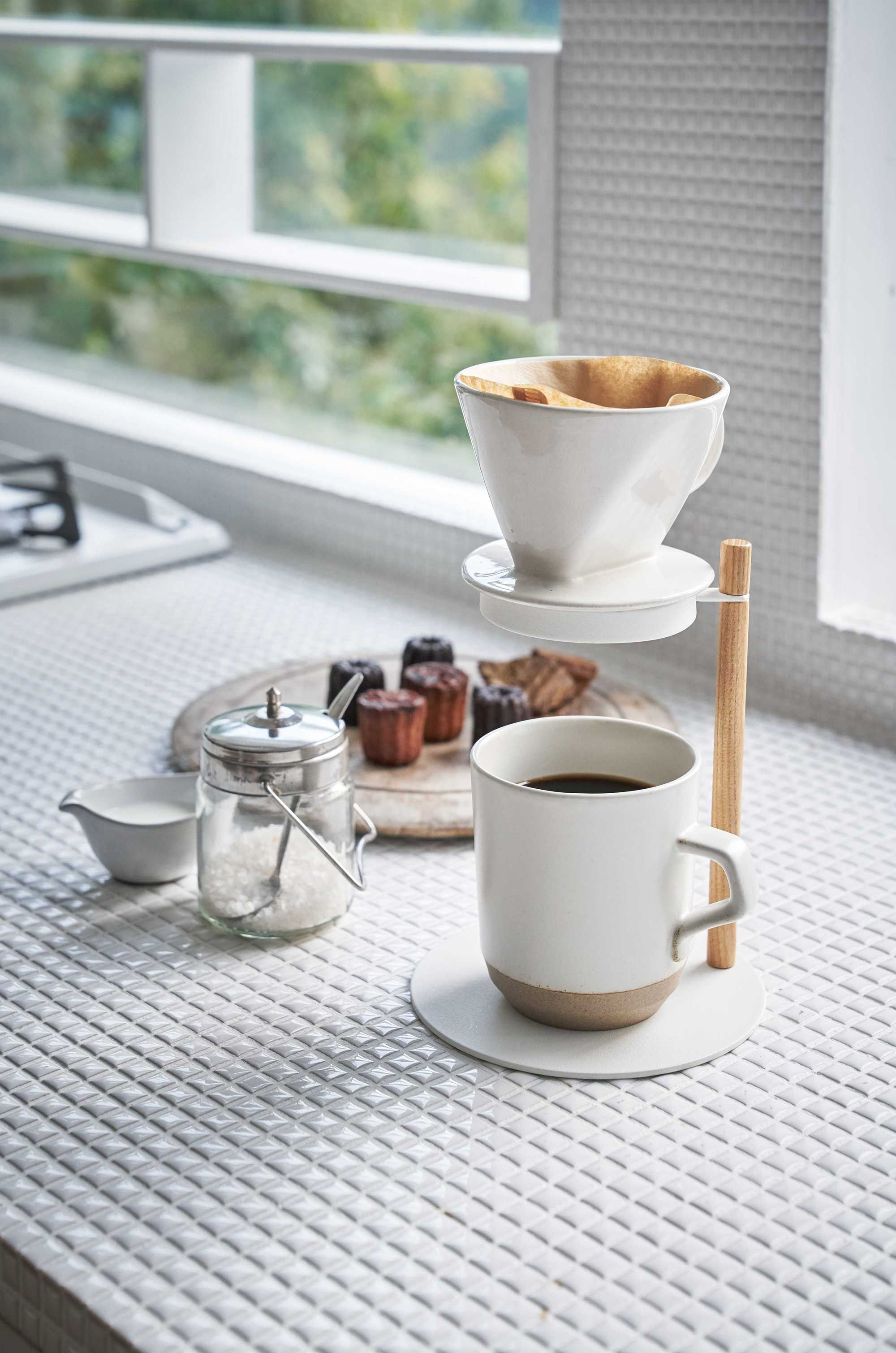 Pour-Over Dripper Stand | Steel + Wood
