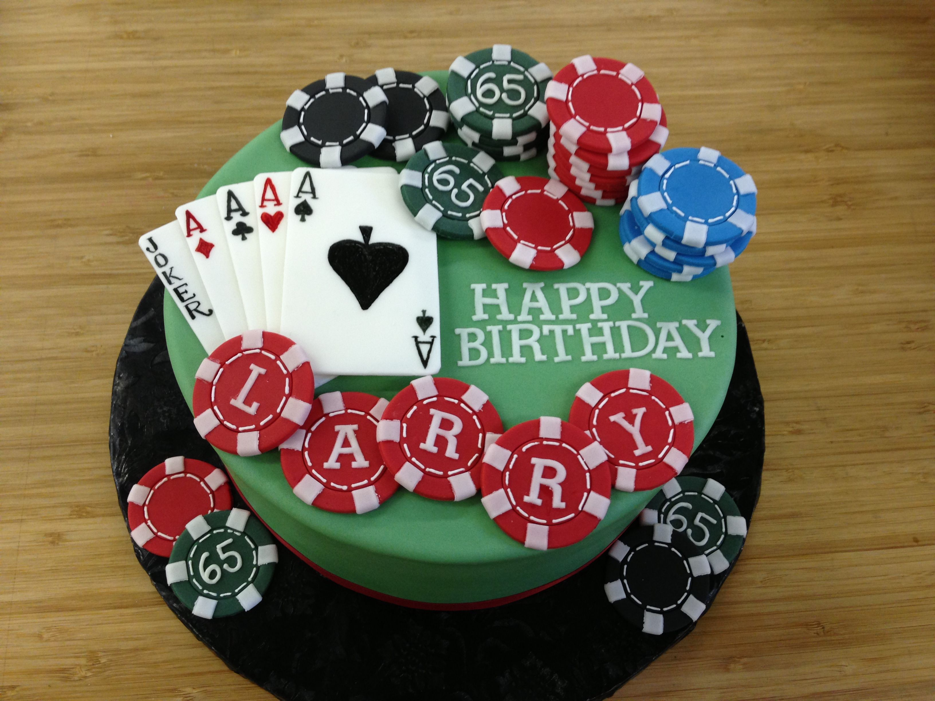 How To Make A Poker Chip Cake
