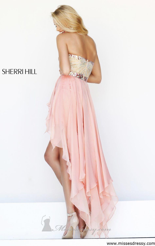 Strapless Hi Lo Gown by Sherri Hill | Sherri hill, Ropa de moda y ...