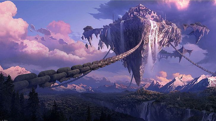 gameplay screenshot, chains, landscape, Tera online, digital art HD wallpaper