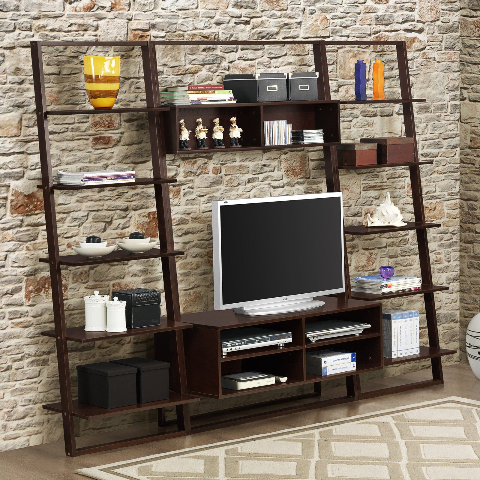4D Concepts Arlington TV Stand with Wall Shelf | from hayneedle.com