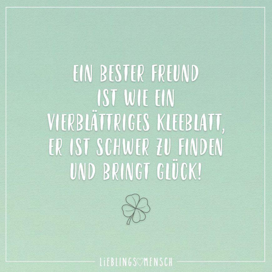 Ein bester Freund ist wie ein vierblättriges Kleeblatt, er ...