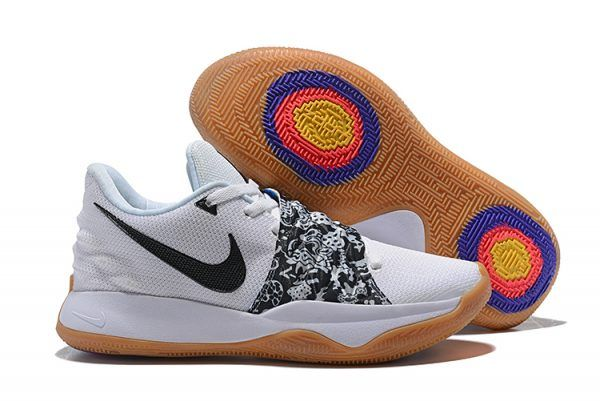 f5a7523ef35 2018 New Nike Kyrie Irving 4 Low White Black AO8979-100 For Sale-1