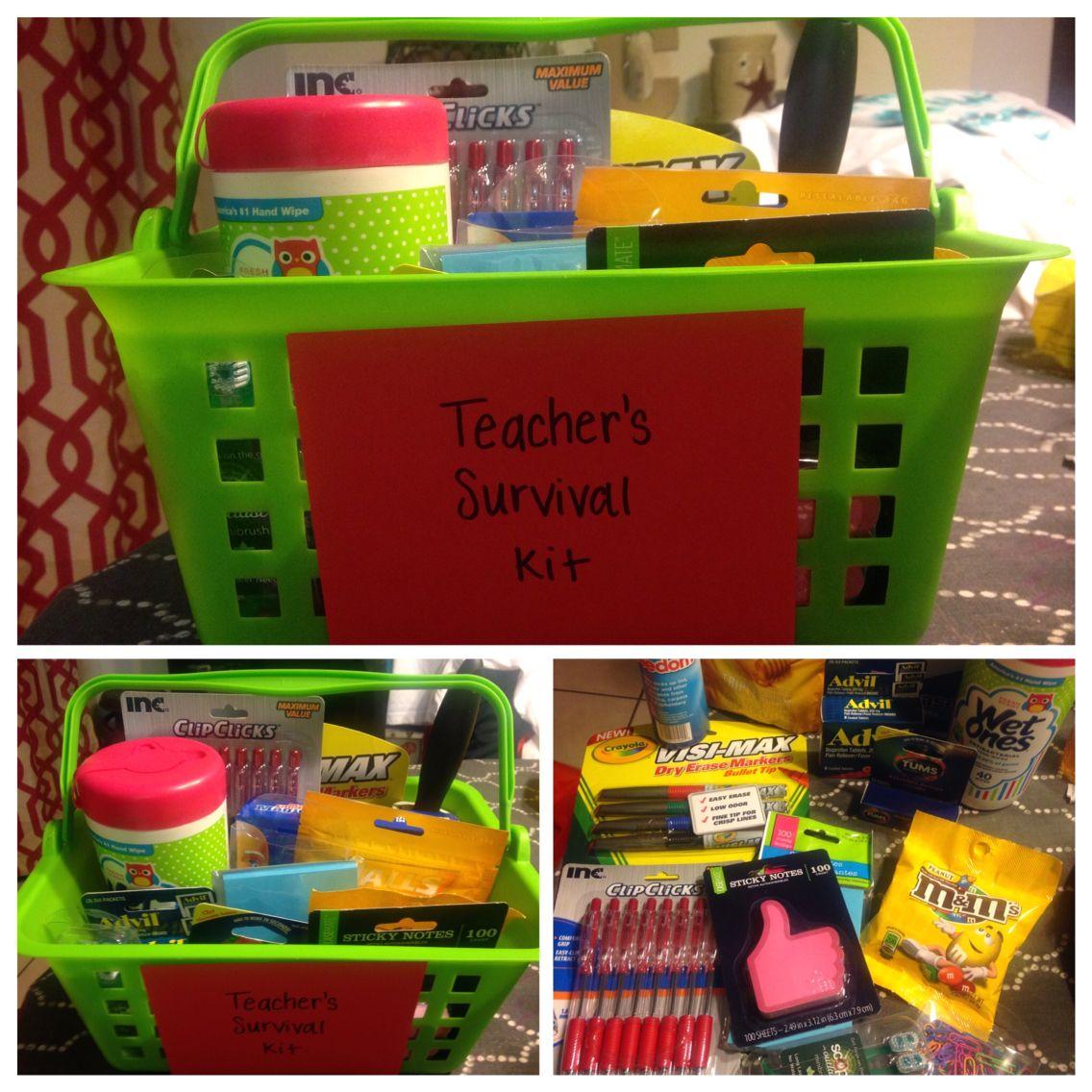 First day of school!! Teacher Survival Kit