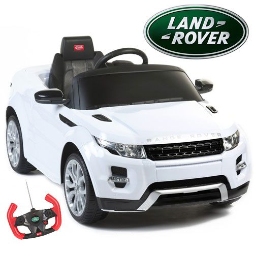 Kids Licensed White 12v Range Rover Evoque Ride On Jeep