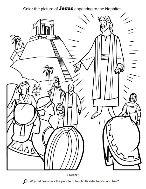 Church Releases New Coloring Book For Kids Free Pages Available Here Lds Daily Coloring Books Coloring Pages Scripture Coloring