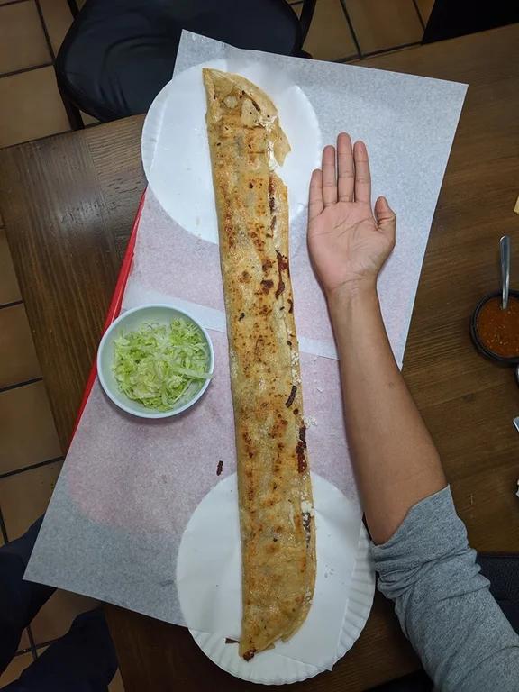 Machete quesadilla from Fonda Mixcoac . SO GOOD : orangecounty