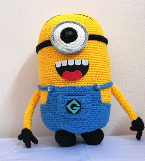 Crochet Minion Yellow Minions Big Minions by NuageViolace on Etsy ...