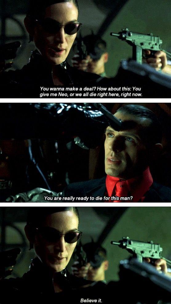 The Matrix Revolutions Trinity & Merovingian