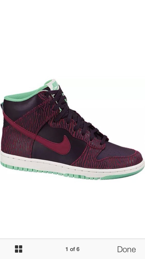 NIKE Womens Dunk HI SKinny Print DS sz 8 (543242 500) air max one